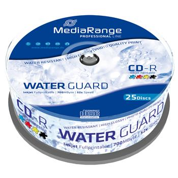 Médium MediaRange CD-R 700MB 52x Printable Waterguard 25-cake